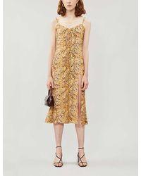 Reformation Crimini Snakeprint Sleeveless Crepe Dress - Multicolour