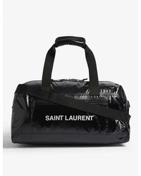 Saint Laurent Branded Duffle Bag - Black