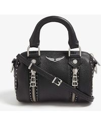 Zadig & Voltaire Nano Sunny Studded Leather Bowling Bag - Black