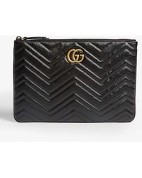 Gucci - GG Marmont Quilted Leather Pouch - Lyst