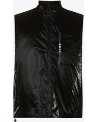 Rains Drifter High-neck Zip-up Shell Gilet - Black