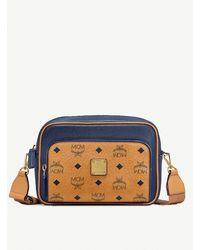 MCM Klass Coated-canvas Cross-body Bag - Blue