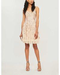 Needle & Thread Valentina Sequin-embellished Chiffon Dress - Metallic