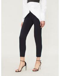 Pinko - Micrometro Skinny Wool-blend Trousers - Lyst