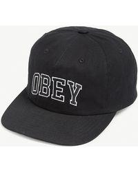 Obey Dropout Baseball Cap - Black