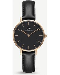 Daniel Wellington Dw00100224 Classic Petite Sheffield Rose Gold-plated Leather Strap Watch - Multicolour