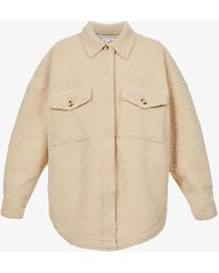 GOOD AMERICAN Relaxed-fit Sherpa Jacket - Natural