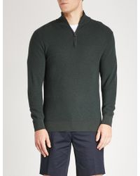 Ralph Lauren Purple Label - Half-zip Wool And Cashmere-blend Knitted Jumper - Lyst