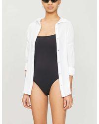 Seafolly Classic Cotton Beach Shirt - White
