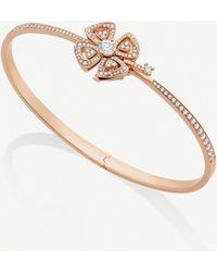 BVLGARI Fiorever 18ct Rose-gold And Diamond Bracelet - Metallic