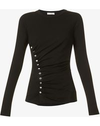 Paco Rabanne - Gathered Stretch-jersey Top - Lyst