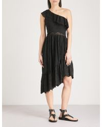 The Kooples - One-shoulder Broderie Anglaise Cotton Dress - Lyst