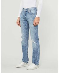True Religion Ricky No Flap Straight-leg Jeans - Blue