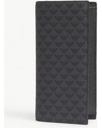 Emporio Armani - Eagle-print Long Leather Wallet - Lyst