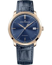 Girard-Perregaux - 49525-52-432-bb4a 38mm Blue Alligator And Rose Gold Automatic Watch - Lyst