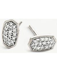 Kendra Scott - Gypsy Sterling Silver And Pavé Diamond Earrings - Lyst