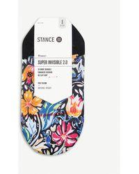 Stance Zoe Floral-print Woven Socks - Black