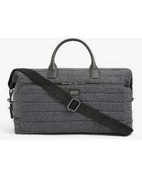 Ted Baker Ruffle Textured Wool-blend Holdall - Grey
