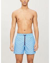 Vilebrequin Moorea Turtle-print Swim Shorts - Blue