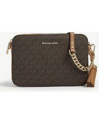 MICHAEL Michael Kors Ginny Monogram Print Cross-body Bag - Brown