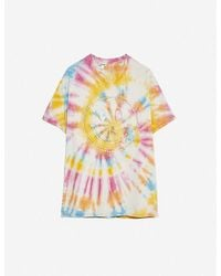 Loewe X Smiley Graphic-print Tie-dye Cotton T-shirt - Yellow