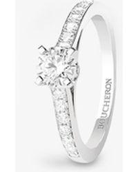 Boucheron Beloved Platinum And Diamond Engagement Ring - Metallic
