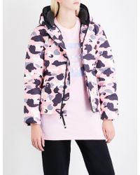 A Bathing Ape Abc Camo-print Shell-down Jacket - Pink