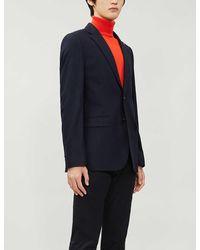 Ted Baker Single-breasted Regular-fit Wool-blend Blazer - Blue