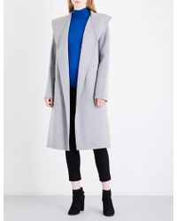 JOSEPH Lima Wool And Cashmere-blend Coat - Blue