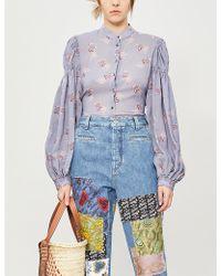 Loewe X Paula's Ibiza Floral-print Woven Shirt