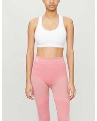 adidas By Stella McCartney Essential Stretch-recycled Polyester Sports Bra - White