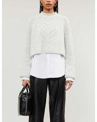 AllSaints Kalk Knitted Sweater - Gray