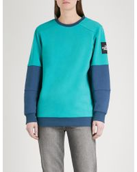 The North Face - Logo-embroidered Cotton-jersey Sweatshirt - Lyst