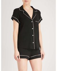 Eberjey Gisele Stretch-jersey Pajama Set - Black