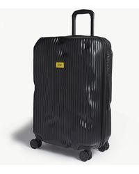 Crash Baggage Stripe Medium Suitcase 68cm - Black