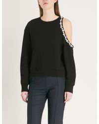 The Kooples - Embellished Cotton-jersey Sweatshirt - Lyst