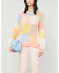 Stine Goya Sana Knit Sweater Gingham Pastel - Multicolor