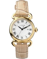 Links of London - Driver Yellow Gold-plated Watch - Lyst