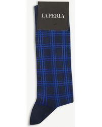 La Perla - Checker Cotton Socks - Lyst