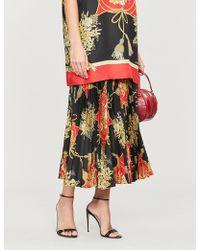 Gucci Floral-pattern Silk Midi Skirt - Multicolor