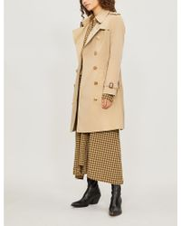 Burberry The Chelsea Heritage Cotton-gabardine Trench Coat - Natural