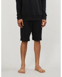 Calvin Klein Compact Flex Sleep Cotton-jersey Shorts - Black