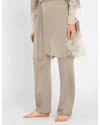 Carine Gilson - Straight Silk-crepe De Chine Pyjama Bottoms - Lyst
