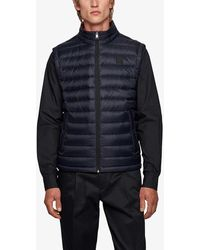 BOSS by Hugo Boss Quilted-down Shell Gilet - Blue