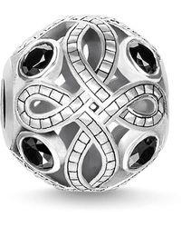 Thomas Sabo Love Knot Zirconia And Sterling Silver Karma Bead - Metallic