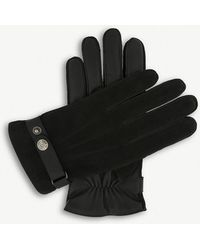 Dents - Nubuck-back Leather Palm Gloves - Lyst