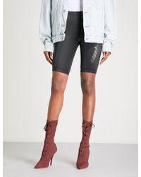 Yeezy - Season 5 Satin-jersey Bike Shorts - Lyst
