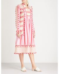 Dodo Bar Or Stephanie Tassel-trim Cotton Dress - Pink