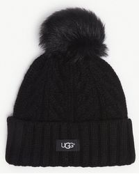 UGG - Cable Knit Pompom Beanie - Lyst