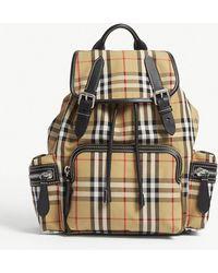 Burberry - Brown Check Vintage Cross Body Rucksack - Lyst